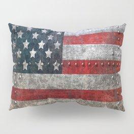 usa  steel flag america Pillow Sham