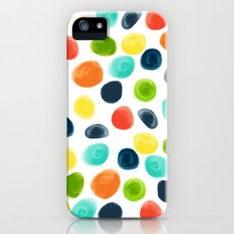 Cobblestone Watercolor Abstract iPhone Case