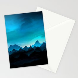 Night Storm In The Mountains Stationery Cards