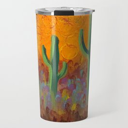 Saguaros Dreaming Travel Mug