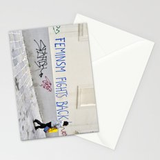 Feminism fights back Stationery Cards