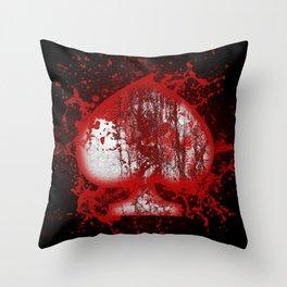 Emoji Spade Splash Throw Pillow