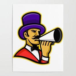 Circus Ringleader or Ringmaster Mascot Poster
