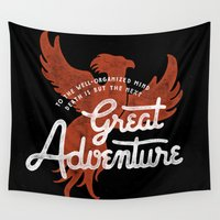 dumbledore Wall Tapestries featuring Great Adventure by WEAREYAWN