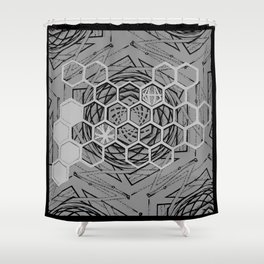 Honeycomb Portal Shower Curtain