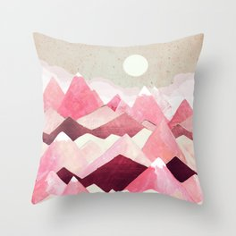 Blush Berry Peaks Throw Pillow