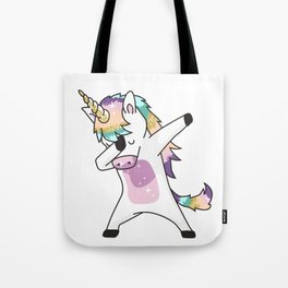 dabbing unicorn Tote Bag