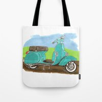 vespa Tote Bags featuring Vespa by JasonKoons