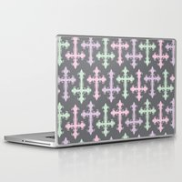 pastel goth Laptop & iPad Skins featuring Pastel Goth | Grey by Glitterati Grunge