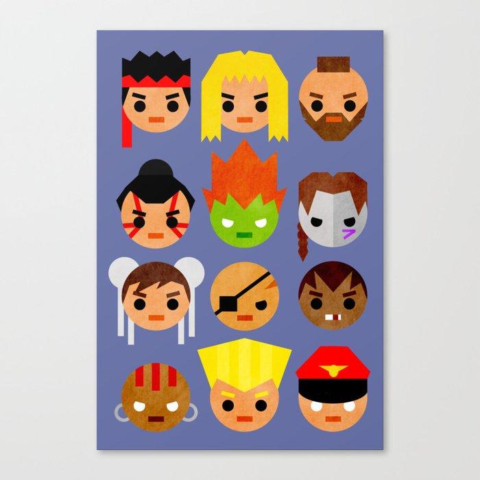 Street Fighter 2 Mini Canvas Print