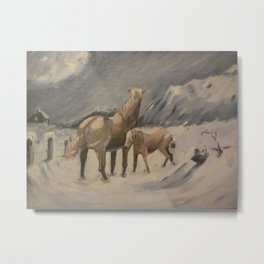 Braving The Elements by Robert Ricketts Metal Print