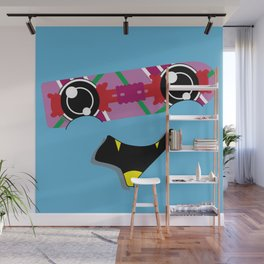 FUTURE feat. Back To The Future (Original Character Art) Wall Mural