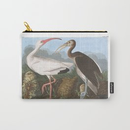 White ibis, Birds of America, Audubon Plate 222 Carry-All Pouch