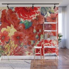 flowers 29 #flora #flowers #pattern Wall Mural