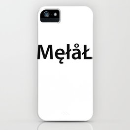 Metal New Font iPhone Case