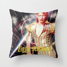 David Bowie - Ziggy stardust Throw Pillow