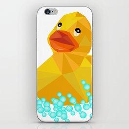 Ducky geometric Yellow funny art iPhone Skin