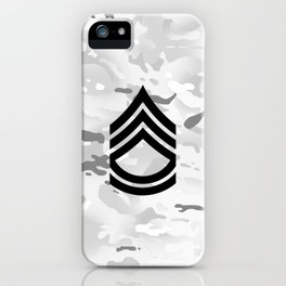 Sergeant First Class (Winter Camo) iPhone Case