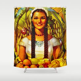 Vintage Bountiful Mexico Travel Shower Curtain