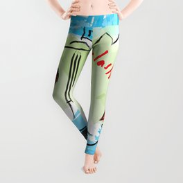 City scape - Seattle, Washington Leggings