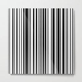 Barcode Stripes Metal Print