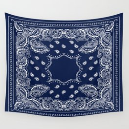 Bandana - Navy Blue - Boho Wall Tapestry