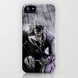 Bats and joker iPhone Case