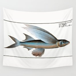 Marcus Elieser Bloch - Middle-Pinned Flying-Fish Wall Tapestry