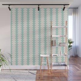 Maude Pattern - Teal Wall Mural