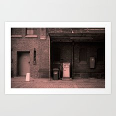 the old service station Art Print