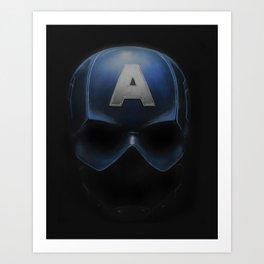 Capt America - Cowl Portrait Art Print