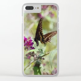 Butterfly Echoes Clear iPhone Case