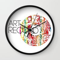 record Wall Clocks featuring Art Record by kartalpaf
