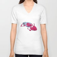 nail polish V-neck T-shirts featuring It's nail polish by ElinJ