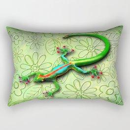 Gecko Lizard Rainbow Colors Rectangular Pillow