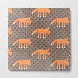 Stars Foxes Metal Print