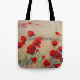 Golden Wheat Poppies Tote Bag