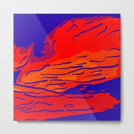 abstract style aurora borealis absbry Metal Print