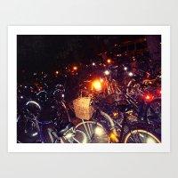 bikes Art Prints featuring Bikes by SalOfficial