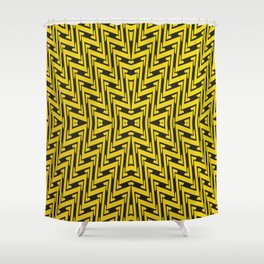 Yellow geometrical lines Shower Curtain
