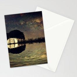 guitar island moonlight Stationery Cards