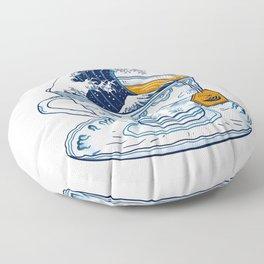 The Great Kanagawa Tee Floor Pillow