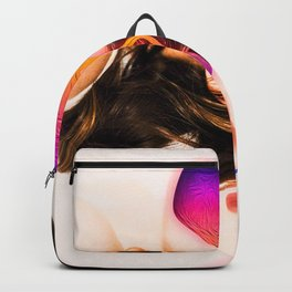 Faceless Poster or Monsters Inside (gradient , liquid) Backpack