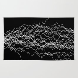 25 paths of discrete Brownian motion - black and white Rug