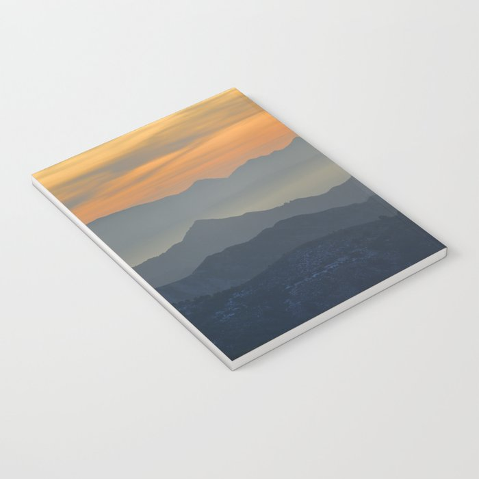 Sunset at the mountains Notebook