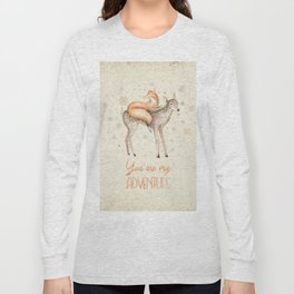 You are my adventure- fox and deer in winter- merry christmas Long Sleeve T-shirt