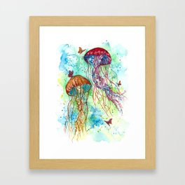 Jellyfish Garden Framed Art Print