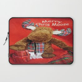 Merry Chris Moose Laptop Sleeve