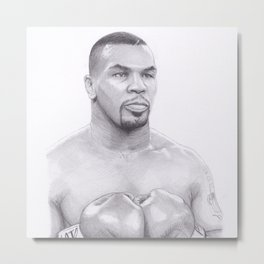 Mike Tyson - Boxing Legend Metal Print