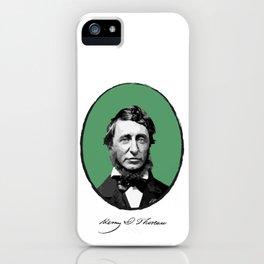 Authors - Henry David Thoreau iPhone Case
